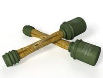 Crossed grenades 3D Royalty Free Stock Image