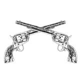 crossed guns Stock Photos