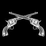 crossed guns Stock Images