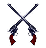 Crossed Guns Royalty Free Stock Photography