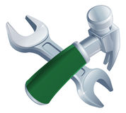 Crossed hammer and spanner tools Royalty Free Stock Photo