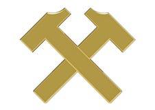 Crossed hammers, 3d rendering Stock Image