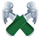 Crossed hammers icon Stock Photo