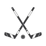 Crossed Hockey Sticks Icon Stock Photo