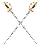 Crossed Infantry Swords Stock Photos