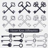 Crossed keys set - vector Royalty Free Stock Photo