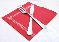 Crossed knife and fork Royalty Free Stock Images