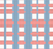 Crossed knitted seamless pattern Stock Photography