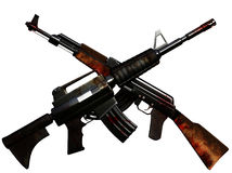 Crossed Machineguns Stock Photo
