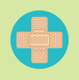 Crossed medical plasters flat design vector Stock Images