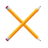 crossed pencils school icon Royalty Free Stock Images