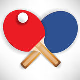 Crossed ping pong rockets. With ball Stock Photo
