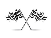 Crossed race flag icon vector symbol Stock Photo
