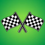Crossed racing flags Stock Image
