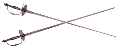 Crossed rapiers Stock Photo