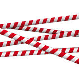 Crossed red white warning tape. Background Royalty Free Stock Photography