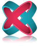 Crossed Rings Impossible Figure Icon Sign. Royalty Free Stock Photos