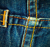 Crossed seams on jeans Royalty Free Stock Photography