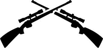 Crossed shotguns vector royalty free illustration