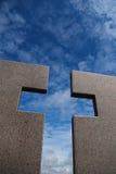 Crossed skies Stock Images