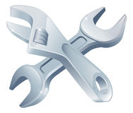 Crossed Spanners Tools Stock Images