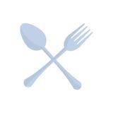 Crossed spoon and fork utensil kitchen. Illustration eps 10 stock illustration