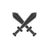 Crossed swords icon isolated on white background. Arms Royalty Free Stock Images