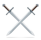 crossed swords illustration  Royalty Free Stock Images