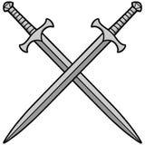 Crossed Swords Illustration. A vector illustration of Crossed Swords royalty free illustration