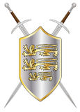 Crossed Swords and Shield Stock Photo