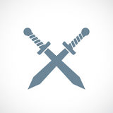 Crossed swords vector icon. Illustration Stock Photography
