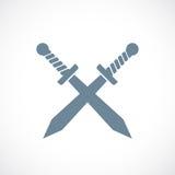 Crossed swords vector icon Stock Photography