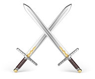 Crossed swords Stock Photos