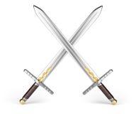 Crossed swords Stock Photos