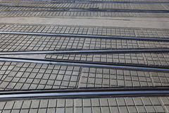 Crossed Tram Rails Stock Images