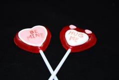 Crossed valentines candy Stock Photo