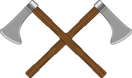 Crossed Viking Axes Royalty Free Stock Photo