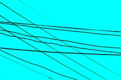 Crossed Wires over an aqua background. This pattern of an array of crossed wires combines direction with misdirection Royalty Free Stock Photo