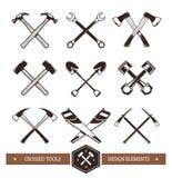 Crossed Work Tools Stock Photo