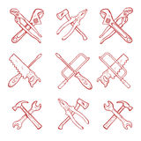 Crossed work tools vector Royalty Free Stock Images