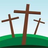 Crosses. Illustration of three religious crosses Royalty Free Stock Photos