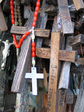 Crosses. The Hill of Crosses, Lithuania stock photo