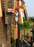 Crosses. The Hill of Crosses, Lithuania stock image