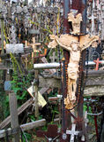 Crosses. The Hill of Crosses, Lithuania royalty free stock photo