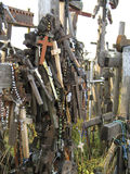 Crosses. The Hill of Crosses, Lithuania royalty free stock photography