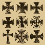 Crosses. Distressed crosses set. Choppers cross Stock Images