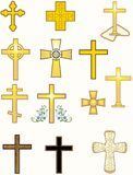 Crosses. From various traditions- Orthodox, Protestant, Byzantine, Celtic, Greek etc Royalty Free Stock Photography