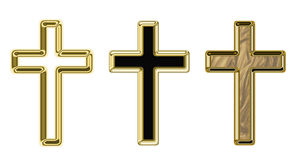 Crosses. Illustration on a religious theme Stock Images
