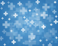 Crosses. Blue abstract background of crosses Royalty Free Stock Photography