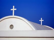 Crosses. Church details, Cavo Greco, Cyprus Stock Photo